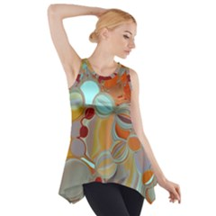 Liquid Bubbles Side Drop Tank Tunic