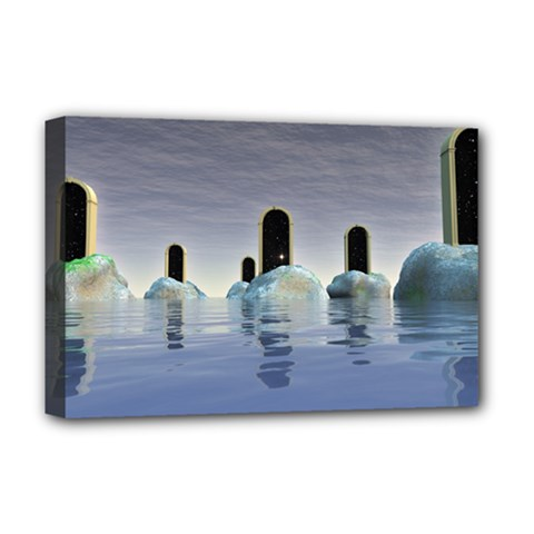 Abstract Gates Doors Stars Deluxe Canvas 18  x 12