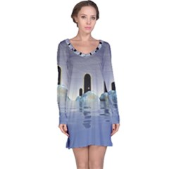 Abstract Gates Doors Stars Long Sleeve Nightdress