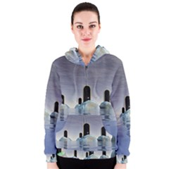 Abstract Gates Doors Stars Women s Zipper Hoodie