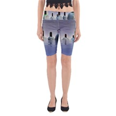 Abstract Gates Doors Stars Yoga Cropped Leggings