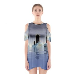 Abstract Gates Doors Stars Shoulder Cutout One Piece