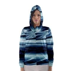 Texture Fractal Frax Hd Mathematics Hooded Wind Breaker (Women)