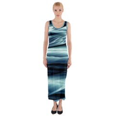 Texture Fractal Frax Hd Mathematics Fitted Maxi Dress
