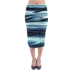 Texture Fractal Frax Hd Mathematics Midi Pencil Skirt