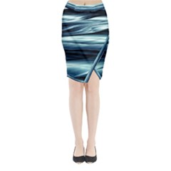 Texture Fractal Frax Hd Mathematics Midi Wrap Pencil Skirt