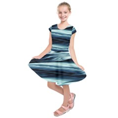 Texture Fractal Frax Hd Mathematics Kids  Short Sleeve Dress