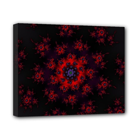 Fractal Abstract Blossom Bloom Red Canvas 10  X 8