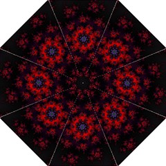 Fractal Abstract Blossom Bloom Red Straight Umbrellas