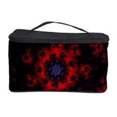 Fractal Abstract Blossom Bloom Red Cosmetic Storage Case