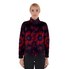 Fractal Abstract Blossom Bloom Red Winterwear