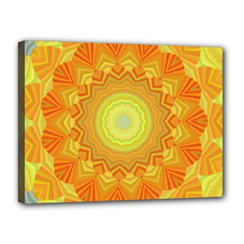 Sunshine Sunny Sun Abstract Yellow Canvas 16  X 12