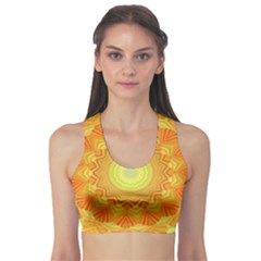 Sunshine Sunny Sun Abstract Yellow Sports Bra