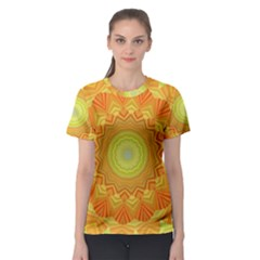 Sunshine Sunny Sun Abstract Yellow Women s Sport Mesh Tee