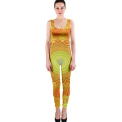 Sunshine Sunny Sun Abstract Yellow OnePiece Catsuit