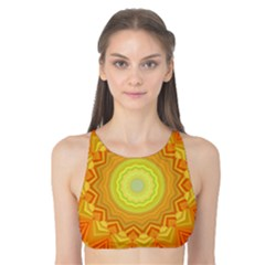 Sunshine Sunny Sun Abstract Yellow Tank Bikini Top