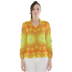 Sunshine Sunny Sun Abstract Yellow Wind Breaker (women)