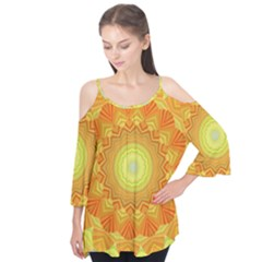 Sunshine Sunny Sun Abstract Yellow Flutter Tees