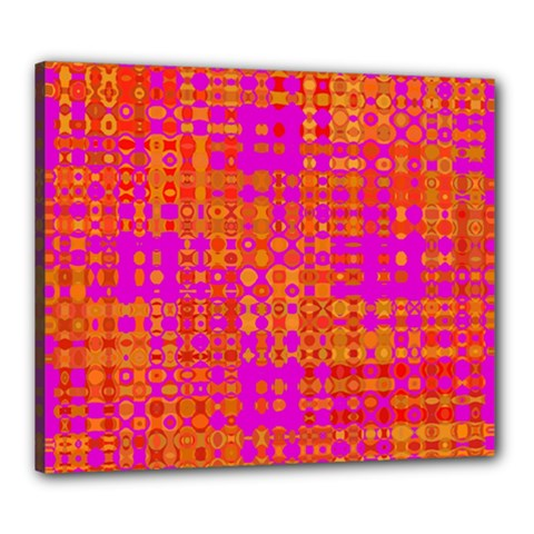 Pink Orange Bright Abstract Canvas 24  x 20