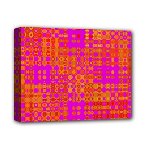 Pink Orange Bright Abstract Deluxe Canvas 14  x 11