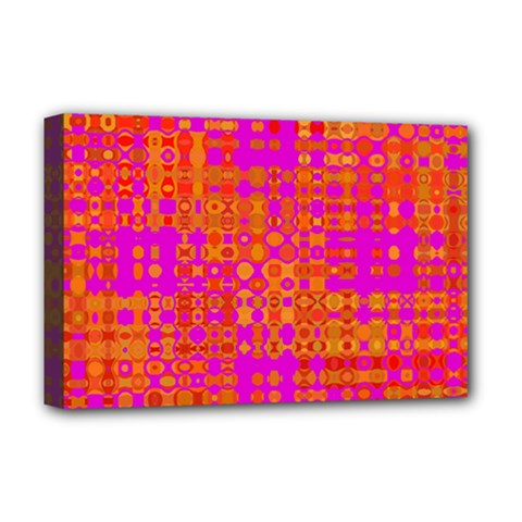 Pink Orange Bright Abstract Deluxe Canvas 18  X 12