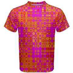 Pink Orange Bright Abstract Men s Cotton Tee