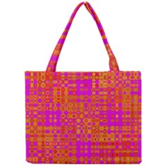 Pink Orange Bright Abstract Mini Tote Bag