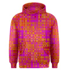 Pink Orange Bright Abstract Men s Pullover Hoodie