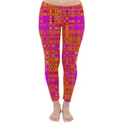 Pink Orange Bright Abstract Classic Winter Leggings