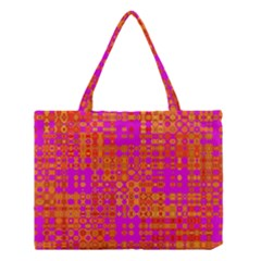 Pink Orange Bright Abstract Medium Tote Bag
