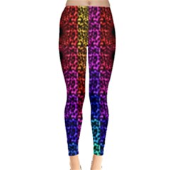 Rainbow Grid Form Abstract Leggings