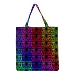 Rainbow Grid Form Abstract Grocery Tote Bag