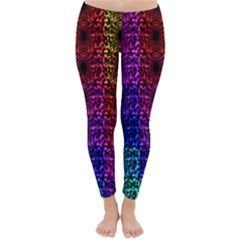 Rainbow Grid Form Abstract Classic Winter Leggings