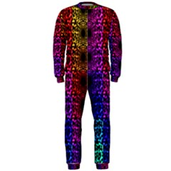 Rainbow Grid Form Abstract Onepiece Jumpsuit (men)