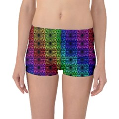 Rainbow Grid Form Abstract Boyleg Bikini Bottoms