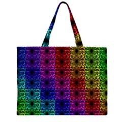 Rainbow Grid Form Abstract Large Tote Bag