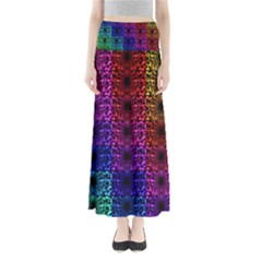 Rainbow Grid Form Abstract Maxi Skirts