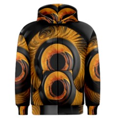 Fractal Pattern Men s Zipper Hoodie