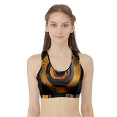 Fractal Pattern Sports Bra With Border