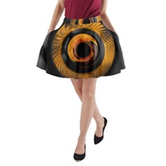 Fractal Pattern A Line Pocket Skirt