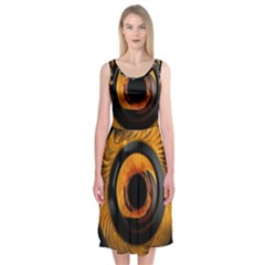 Fractal pattern Midi Sleeveless Dress