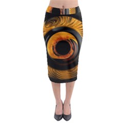 Fractal pattern Midi Pencil Skirt