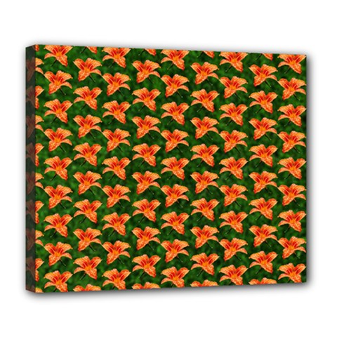 Background Wallpaper Flowers Green Deluxe Canvas 24  X 20