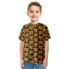 Background Wallpaper Flowers Green Kids  Sport Mesh Tee