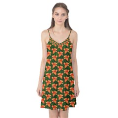 Background Wallpaper Flowers Green Camis Nightgown