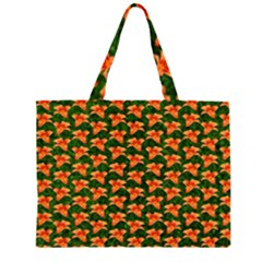 Background Wallpaper Flowers Green Large Tote Bag