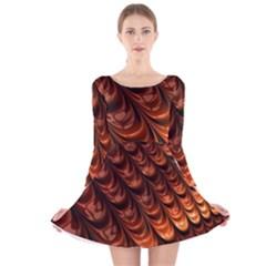 Fractal Mathematics Frax Hd Long Sleeve Velvet Skater Dress