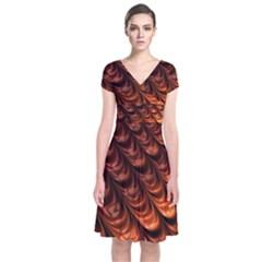 Fractal Mathematics Frax Hd Short Sleeve Front Wrap Dress