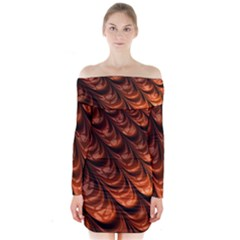 Fractal Mathematics Frax Hd Long Sleeve Off Shoulder Dress