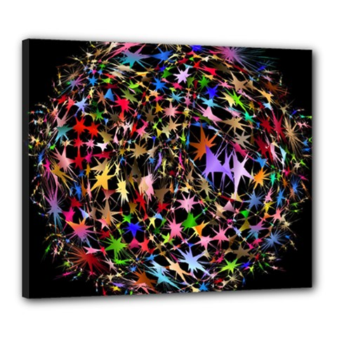 Network Integration Intertwined Canvas 24  x 20